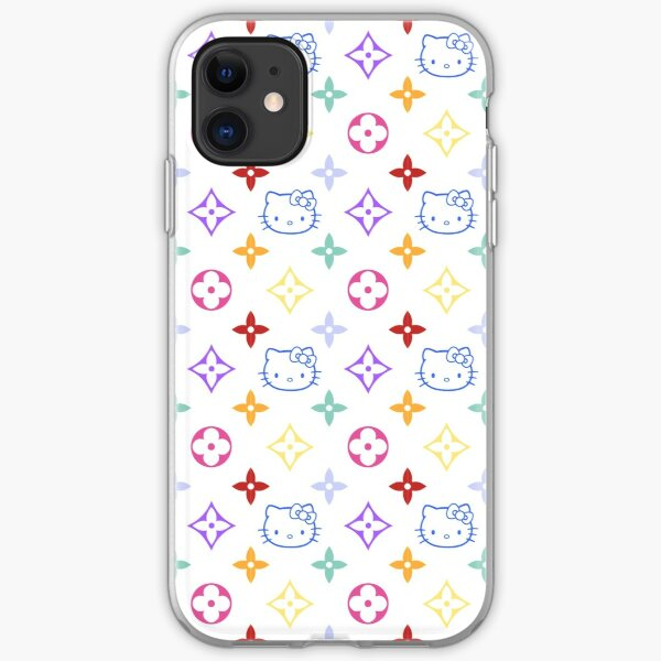 RAINBOW 2000s 00sY2K kitty designer print iPhone Soft Case
