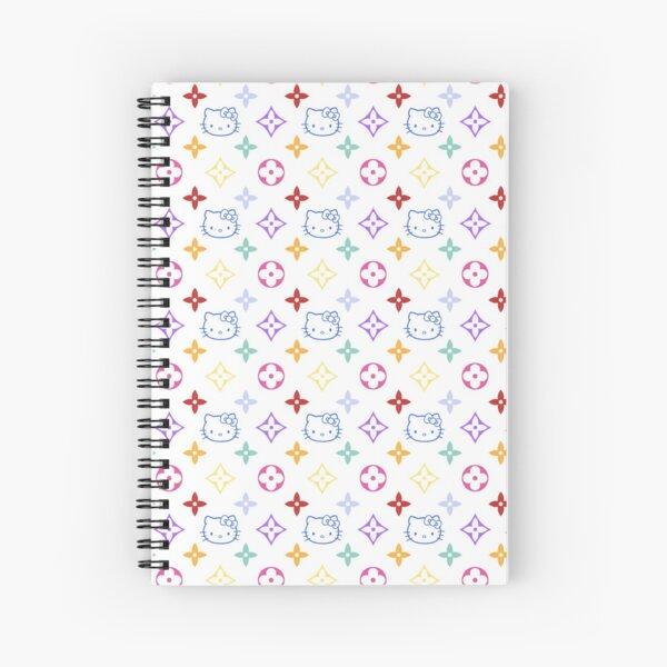 RAINBOW 2000s 00sY2K kitty designer print Spiral Notebook