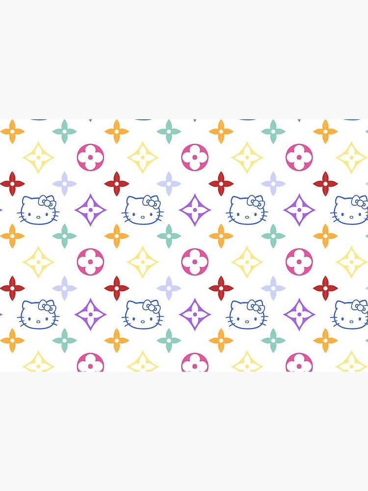 RAINBOW 2000s 00sY2K kitty designer print by lunar0000