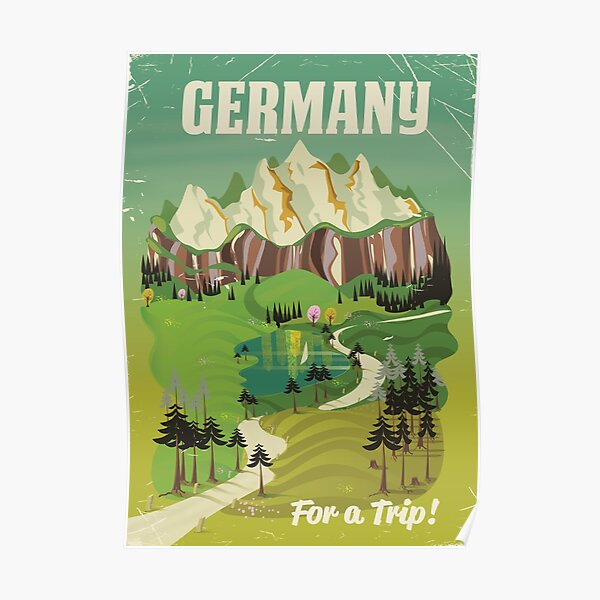 Germany vintage style travel poster Poster