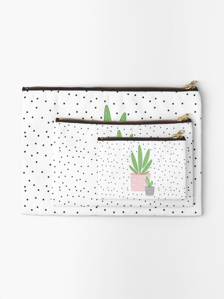 Alternate view of Plant life Zipper Pouch