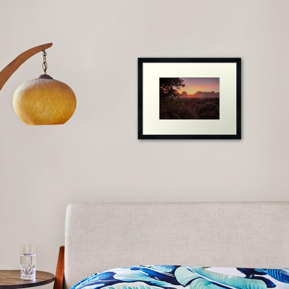 Budby Sunrise Framed Art Print