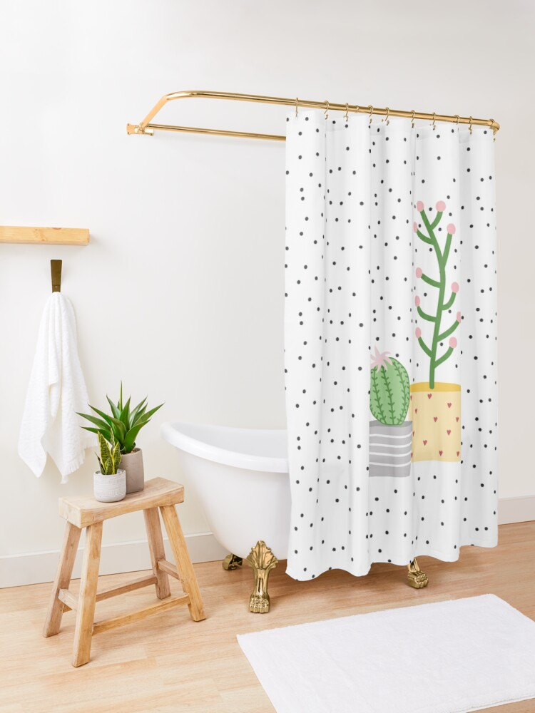 Alternate view of Plant life, cactus Shower Curtain