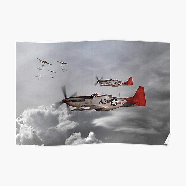 /'The Redtail Angels/' Tuskegee Airmen Poster
