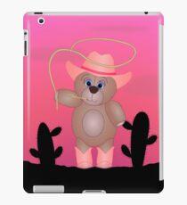 Cute Cartoon Teddy Bear Cowgirl iPad Case/Skin