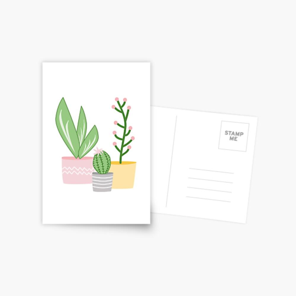 Plant life, three in a row Postcard