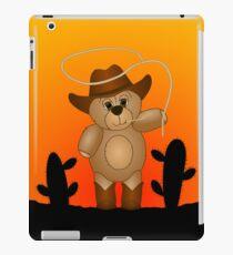 Cute Cartoon Teddy Bear Cowboy iPad Case/Skin
