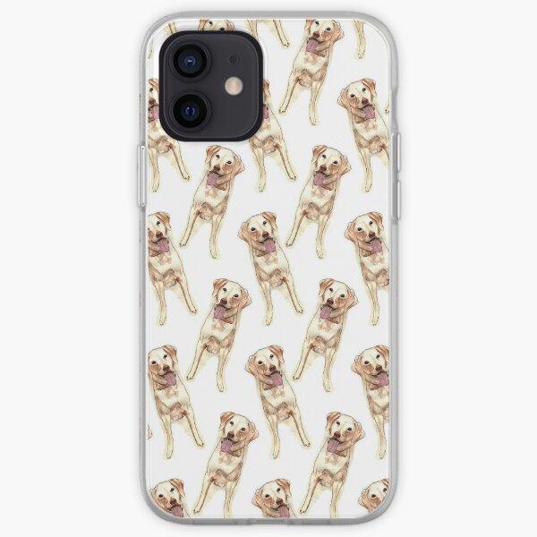 Happy yellow Labrador  iPhone Soft Case