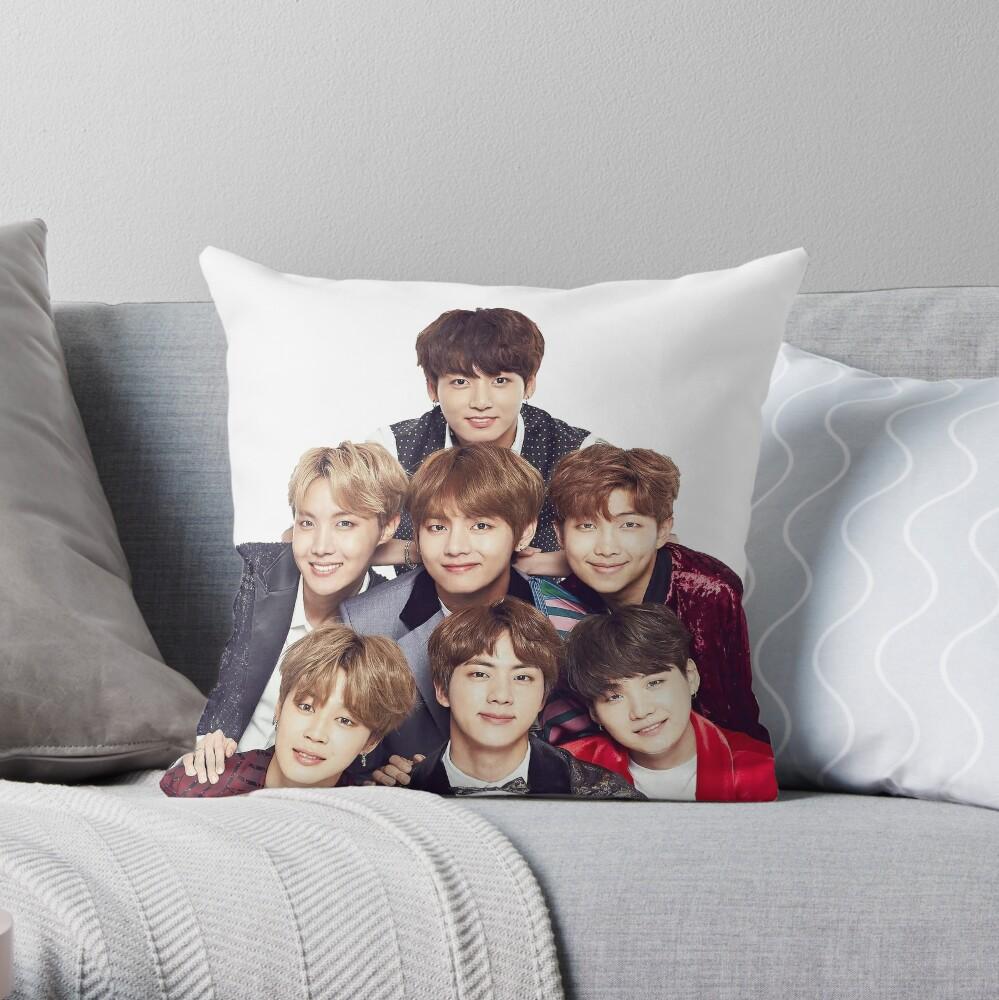BTS Group  Throw Pillow