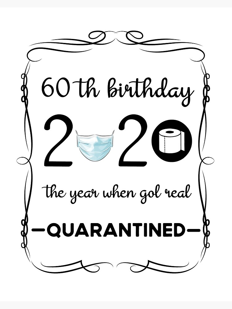 60th Birthday For Women 60th Birthday Gifts 60th Birthday Gift For Men 60th Birthday Wmy011 Art Board Print By Fen3533 Redbubble
