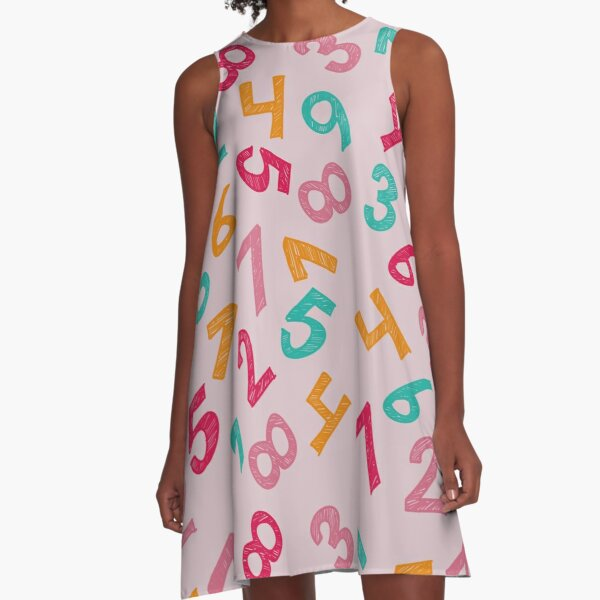 Children Numbers A-Line Dress