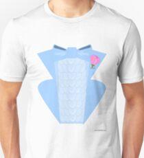 Powder Blue Disco Tuxedo Shirt Unisex T-Shirt