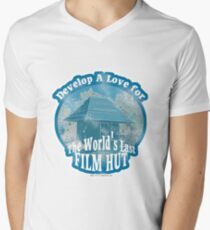 The Last Film Hut Mens V-Neck T-Shirt