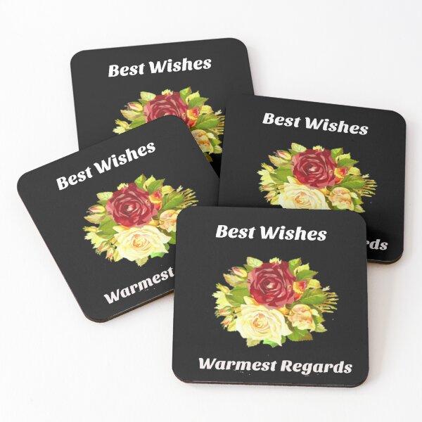 Best Wishes, Warmest Regards - Schitt's Creek  Coasters (Set of 4)