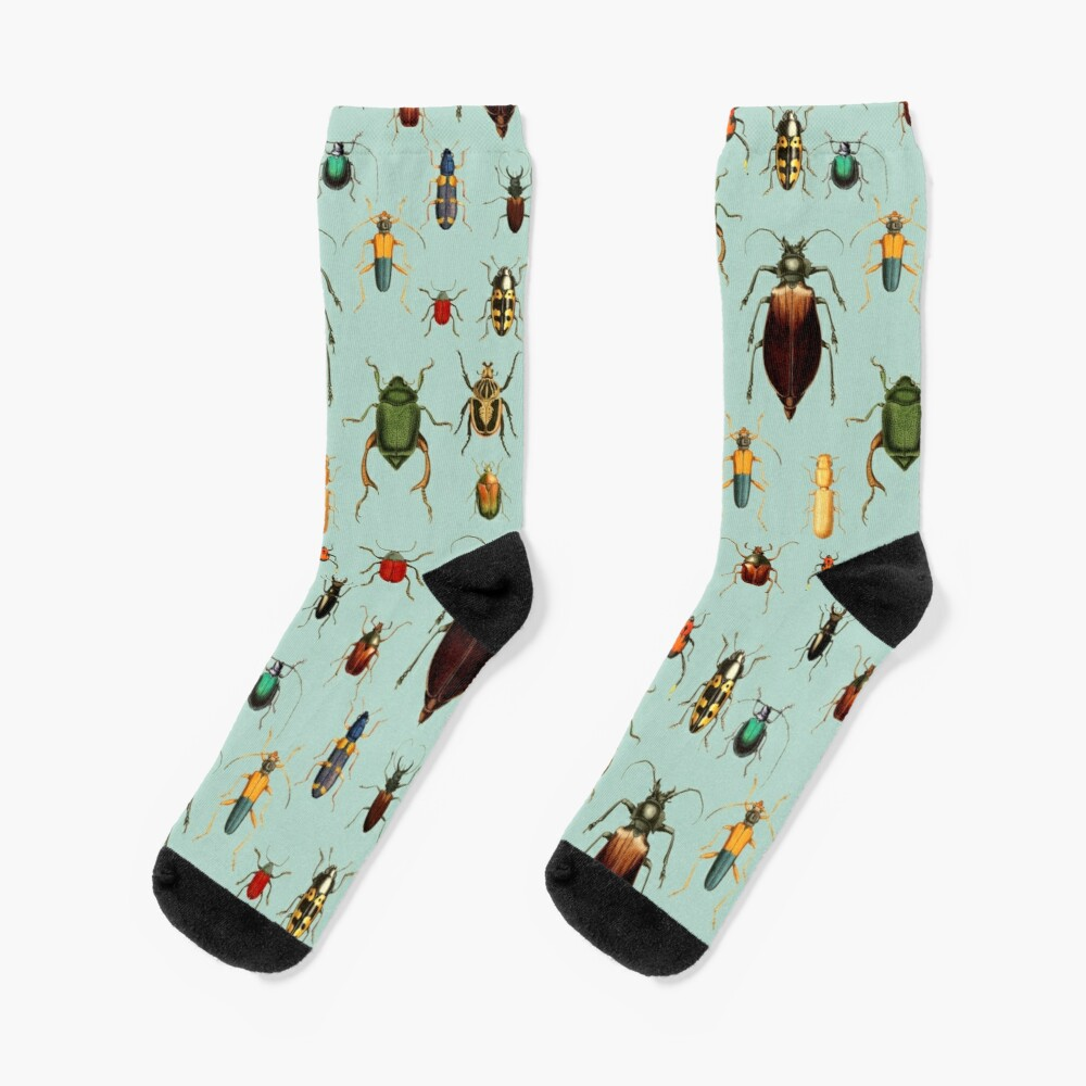Entomologist's Wish - Beetles and Bugs Socks