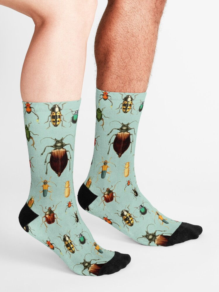 Alternate view of Entomologist's Wish - Beetles and Bugs Socks