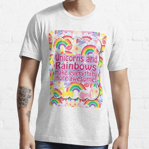 Rainbows and Unicorns Slogan Essential T-Shirt