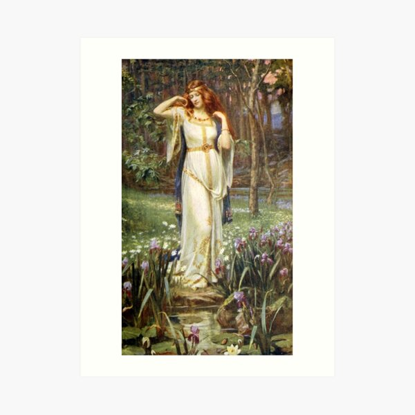 Freyja and her Necklace - James Doyle Penrose Art Print