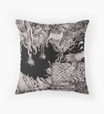 'Morphic Resonator'- pencil collaborative work Throw Pillow