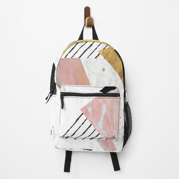 Elegant geometric marble and gold design Backpack