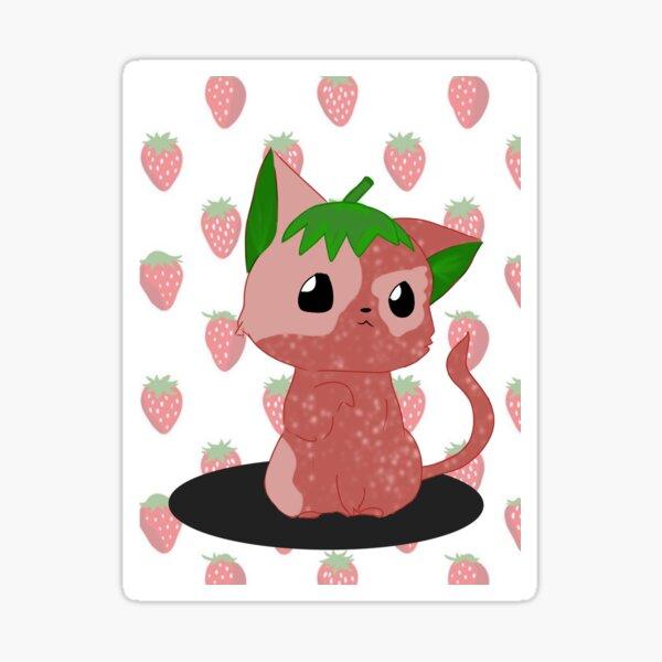 Strawberry Cat Sticker