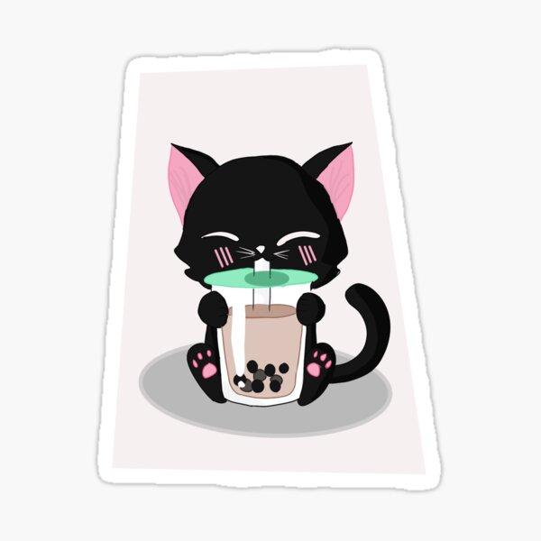 Bubble tea Cat Sticker