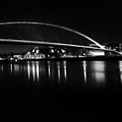 Night falls over maastrict in Black and White by Mark Bunning