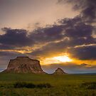 Pawnee Buttes at Sunrise by Reese Ferrier