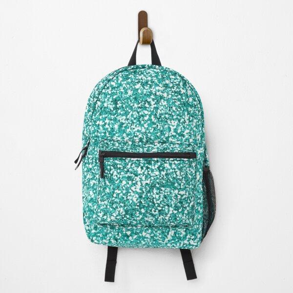 Teal Green Glitter Sparkle Pattern Backpack