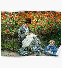 Madame Monet 3-D Redux Poster
