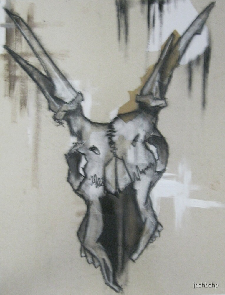 Basic Instinct Is The Key To Survival-Deer Skull by joshbshp