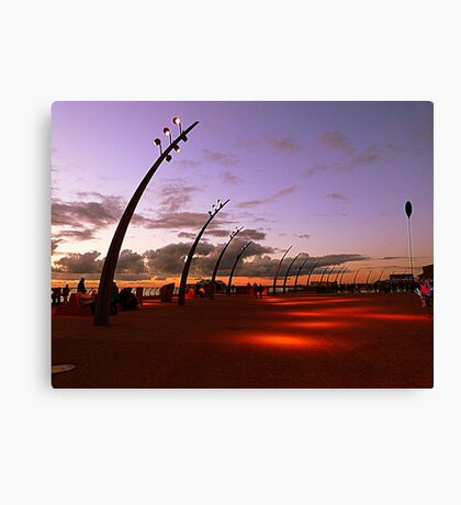 Dusk on the Promenade Canvas Print