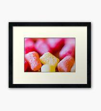 gummy Framed Print