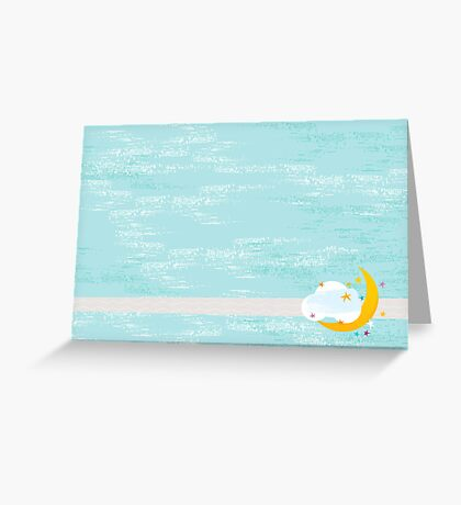 Moon in a Cloud Greeting Card