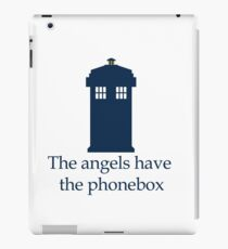 Doctor Who - The angels have the phonebox iPad Case/Skin