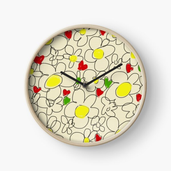 Daisies Clock