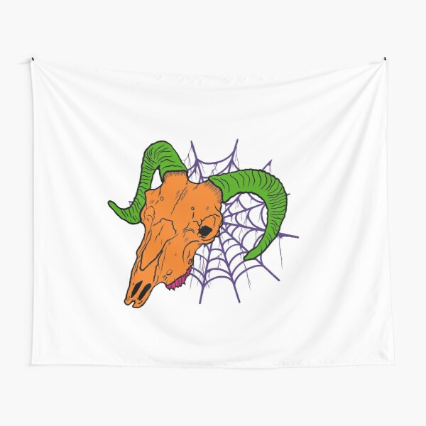Goat and web Tapestry
