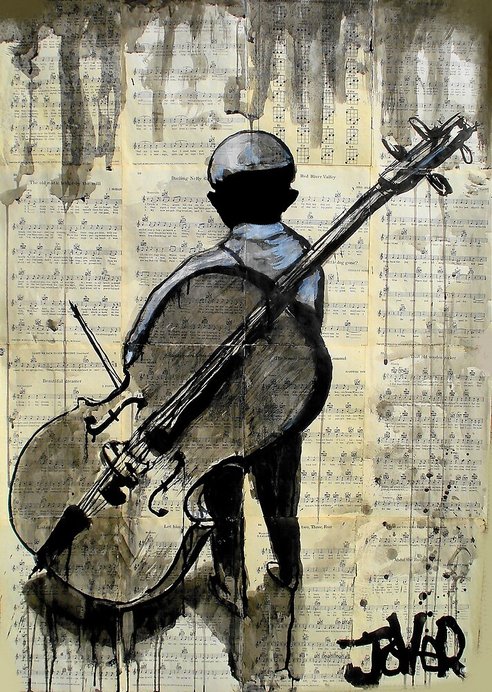 boy with cello by Loui  Jover