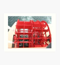 The Red Paddlewheel on the Boat Art Print