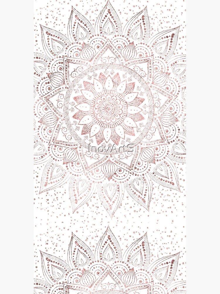 Elegant rose gold mandala confetti design by InovArtS
