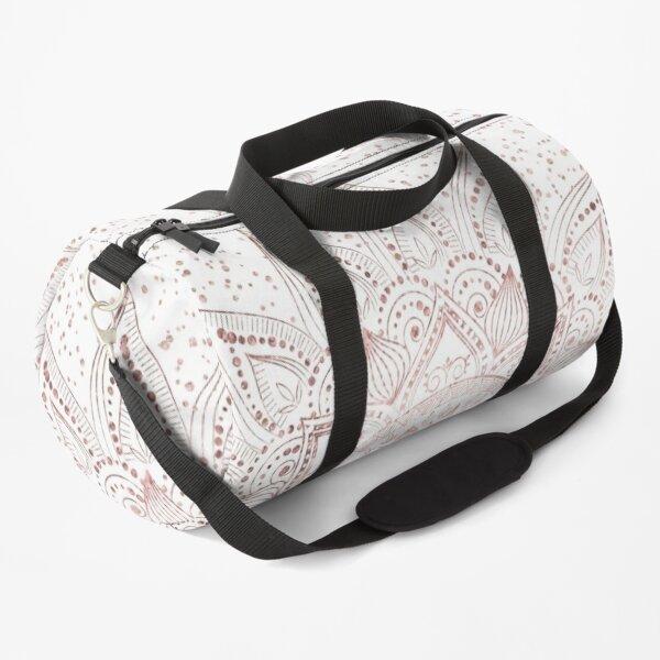 Elegant rose gold mandala confetti design Duffle Bag