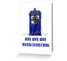 Who, Who, Who, Merry Christmas  Greeting Card