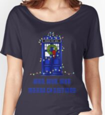 Who, Who, Who, Merry Christmas  Women's Relaxed Fit T-Shirt