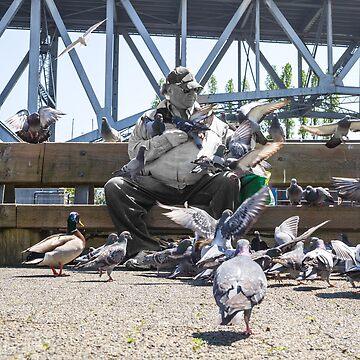 Pigeon Flock by jickay