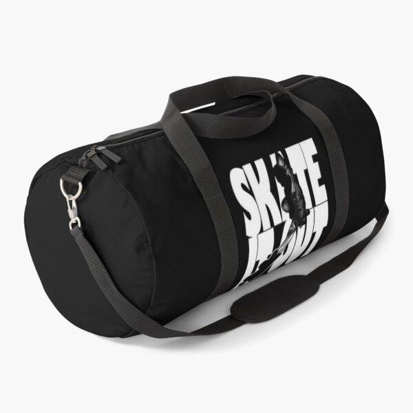 """Skate it Out"" Roller Skate Silhouette Design Duffle Bag"
