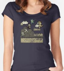 Mega Man Joins The Battle! Women's Fitted Scoop T-Shirt