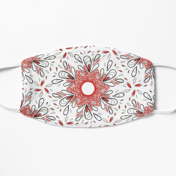 Red Scribble Pattern Mask