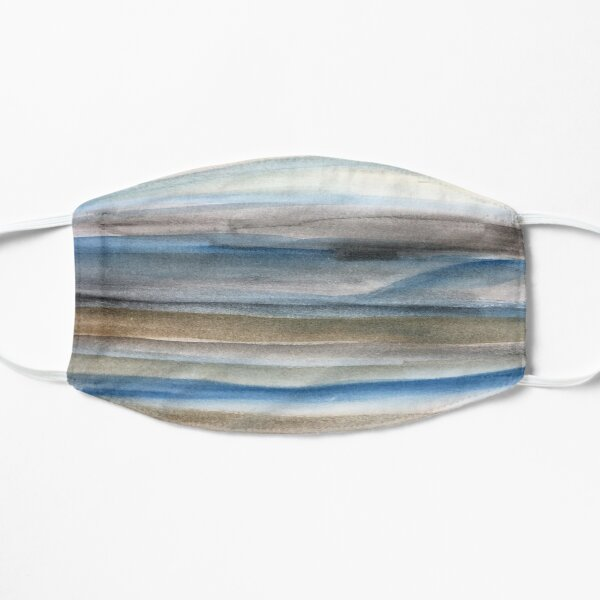 Brown and Blue Abstract Small Mask