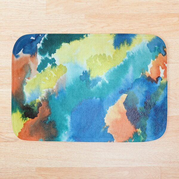 Untitled (Blue, Yellow, Orange and Green)  Bath Mat
