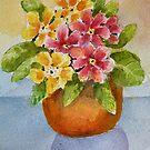 Polyanthus watercolour painting by Shoshonan